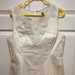 Lily Pulitzer White Blouse with Embellishment